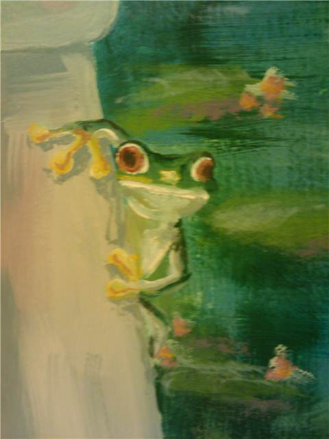 Frog! A total Bob Ross moment... I whipped this little guy out in just minutes.