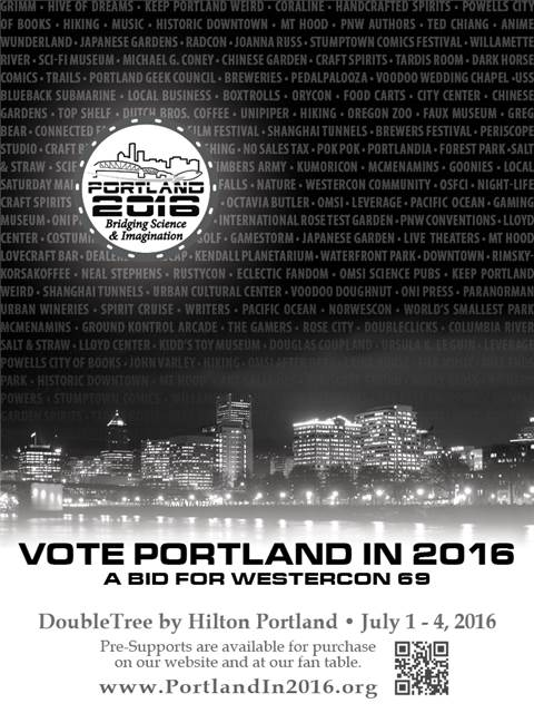Portland in 2016, bid for Westercon69 full page ad