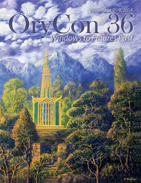 Front page cover of OryCon36 Souvenir Book