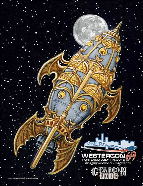 Front page cover of Westercon 69 Souvenir Book